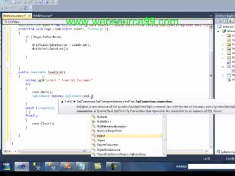 How To Use Gridview Databinding And Pagination In ASP.Net