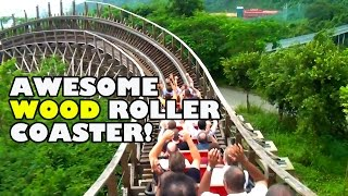 Incredible Wood Coaster Back Seat POV Knight Valley China 木质过山车