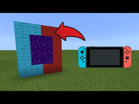 How To Make a Portal to the Nintendo Switch Dimension in MCPE (Minecraft PE)
