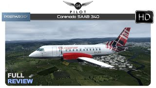 [Prepar3D V4]  Carenado SAAB S340   Full Review