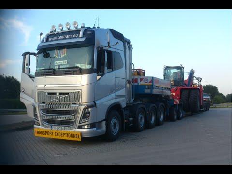 Volvo FH16 750 8x4 &Convoi exceptionnel - YouTube
