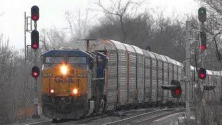 CSX Q216 Auto Rack Train In Shenandoah Junction, WV
