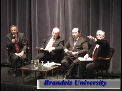 Richard Goldstone and Dore Gold discuss the U.N. Gaza Report at Brandeis
