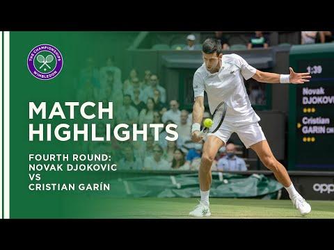 Novak Djokovic vs Cristian Garin   Fourth Round Highlights   Wimbledon 2021