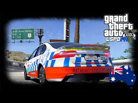 GTA 5 - LSPDFR Australia - Ford XR6 Route 68 Full Patrol (GTA 5 Play As A Cop mod for PC)