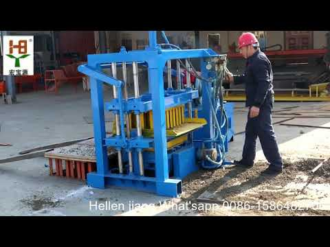 small scale industries 4 40 hydraulic manual concrete cement hollow brick making machine price