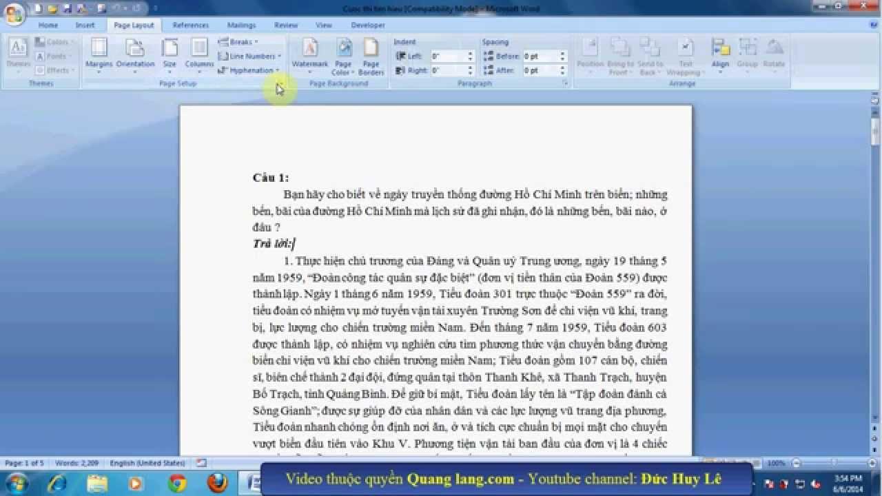 Cách căn lề để in 2 mặt giấy trong Word