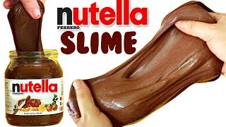 DIY NUTELLA SLIME | Things to do when you