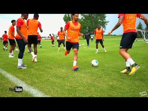 Road to the Gold Cup - 1st training session USA - Guyana Soccer Team