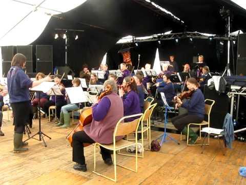 Skye & Lochalsh Orchestra at Drams in the Field, Glenelg, Scotland Sep. 2009