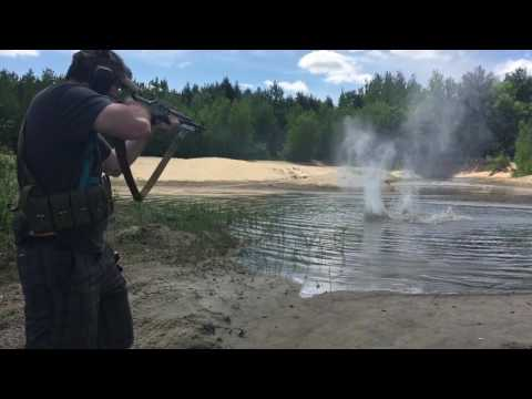 Russian SKS practicing to reload