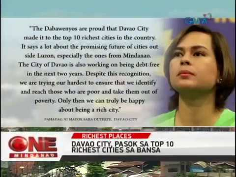 One Mindanao: Davao City at Comval Pasok sa Top Richest City and Province