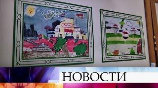 ВАлеппо открылась выставка детских рисунков «Война глазами детей».