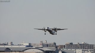 航空会社:ANAウイングス(AKX/EH) 機種:ボンバルディアDHC-8-400 機体...