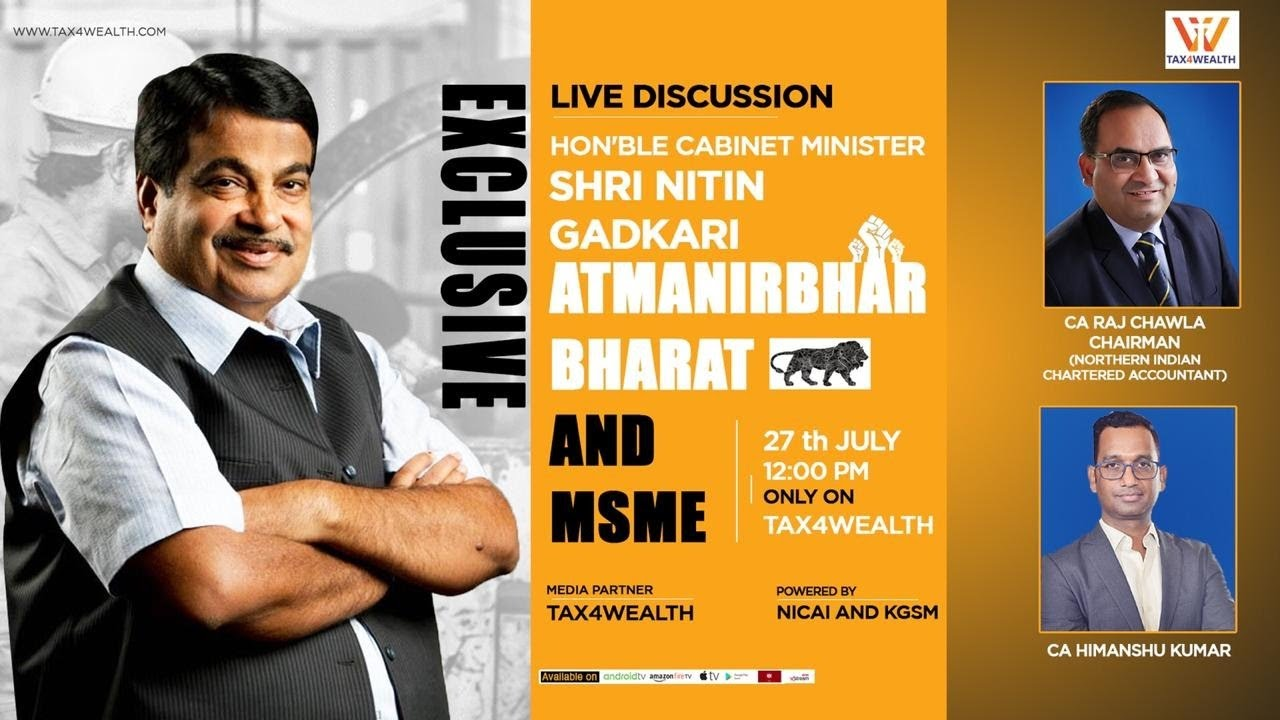 Live Discussion on MSME with Shri Nitin Gadkari