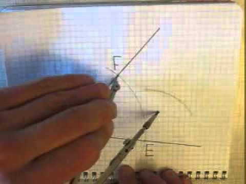 Как разделить угол пополам с помощью циркуля