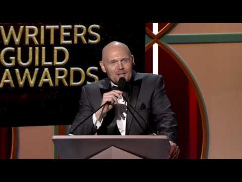 Bill Burr presents the 2017 WGA Documentary Screenplay Award to the writers of Command and Control
