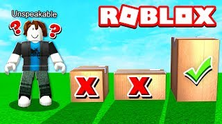 DON'T OPEN THE WRONG BOX IN ROBLOX!