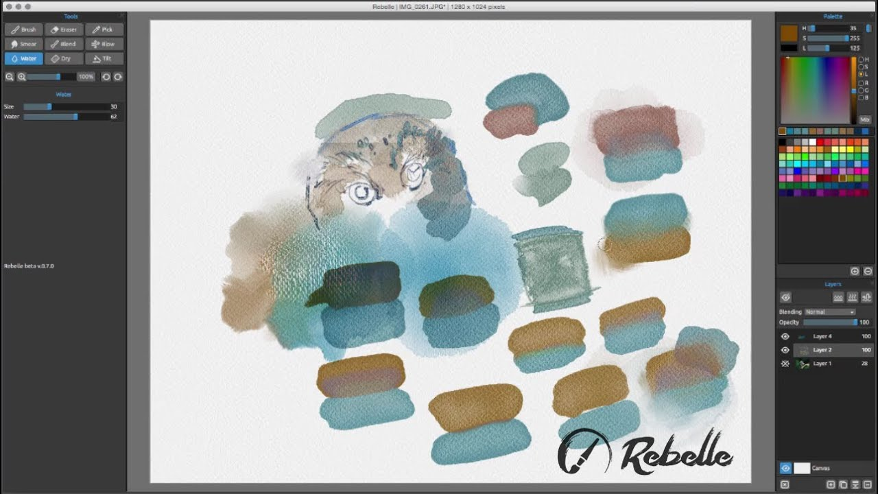 Rebelle Tutorial Watercolor Basics Youtube