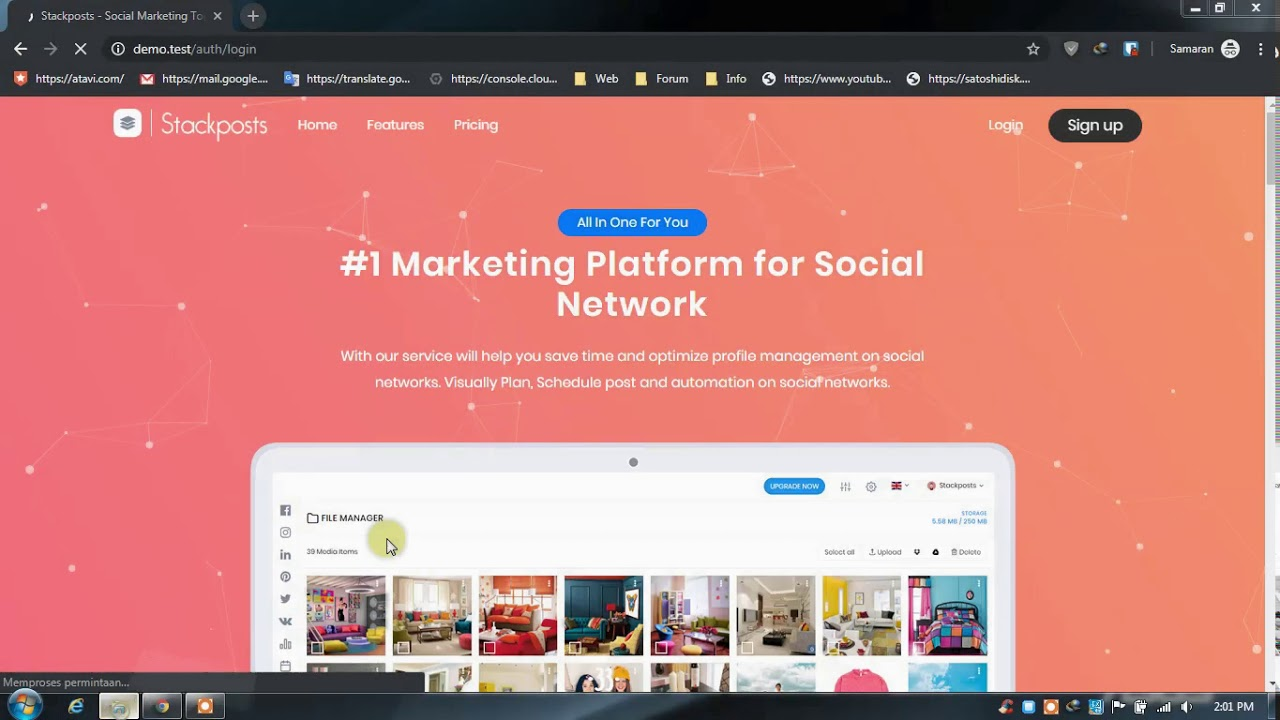 Stackposts V6.0   Social Marketing Tool + Payment Modules + Modules Extended Version