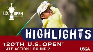 2020 U.S. Open Highlights, Round 2: Late Action