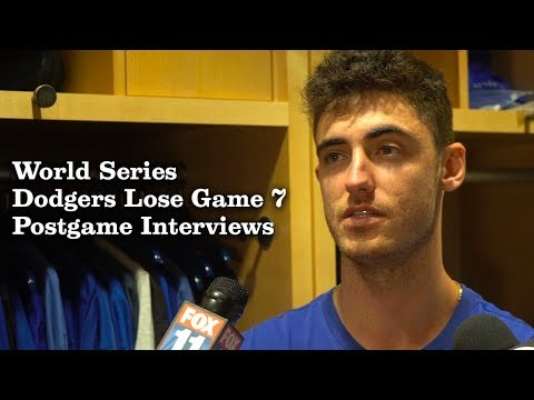 Kenley Jansen, Corey Bellinger, Rich Hill Talk About Losing Game 7  Los Angeles Times