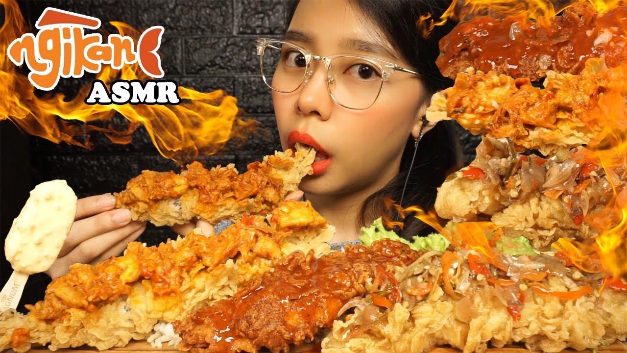 ASMR NGIKAN YUK! Cobain 3 Jenis Sambal & Nasi Liwet (Spicy Deep Fried Fish & Rice) | Eating Sounds