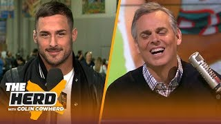 Danny Amendola jokes with Colin over mediocre comment, talks Brady & Gronk's future | NFL | THE HERD