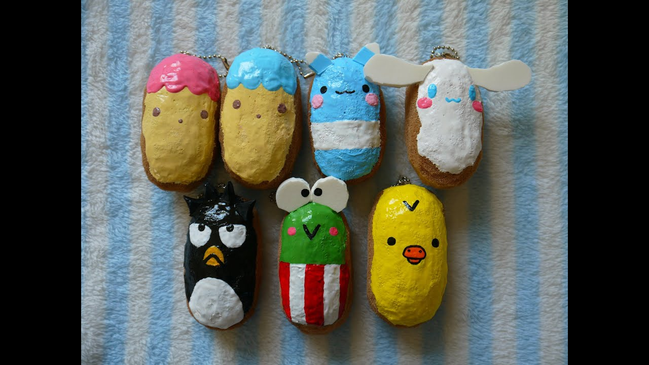 Homemade squishy character eclairs youtube for Squishy ideas