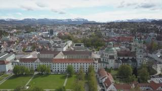 Kempten (Allgäu) & Alpen - Steady Drone Shot - 02.05.2017