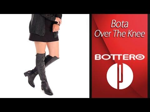 16cd34ec9 Bota Over The Knee Feminina Bottero - 6010414712 - YouTube
