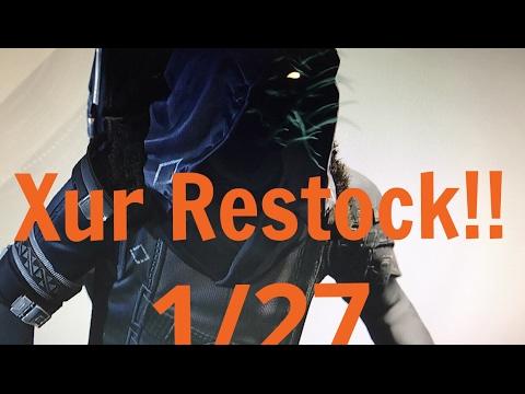 Destiny Xur Restock 1/27 GET THIS HELMET!!!