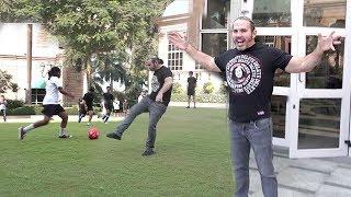 The WWE Super Star  Matt Hard Teaches Football To Orphan Children In India & Teaches Football