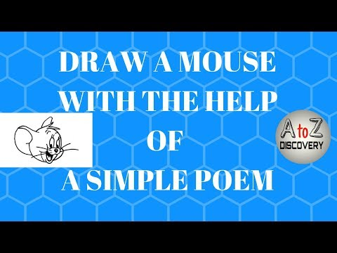 How to draw a mouse with the help of a simple poem   cartoon mouse and animated mouse