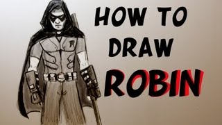 Ep. 62 How to draw Robin from Arkham City