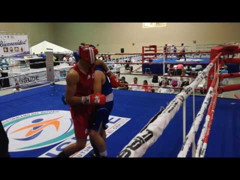 Emilio Valle (BCS) Vs David Camacho (SIN) semifinal Regional de boxeo La Paz bcs 2017