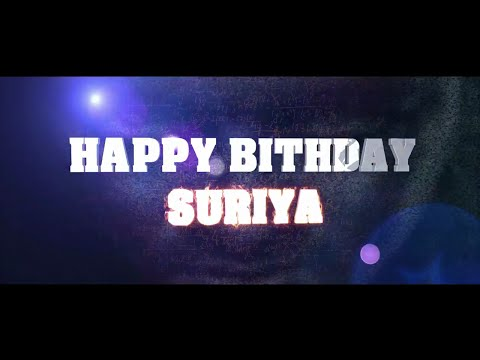 Suriya Mashup| Happy Birthday| 2016