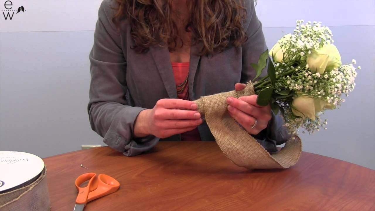 DIY Bouquet Wrap with 2 5\
