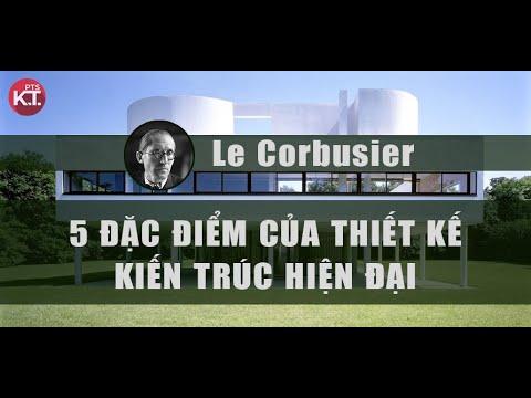 5 đặc điểm kiến trúc hiện đại theo Le'Corbusier : Photoshop kiến trúc tổng hợp