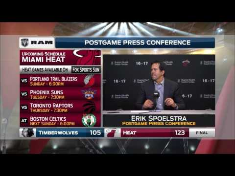 Erik Spoelstra -- Miami Heat vs. Minnesota Timberwolves 03/17/2017
