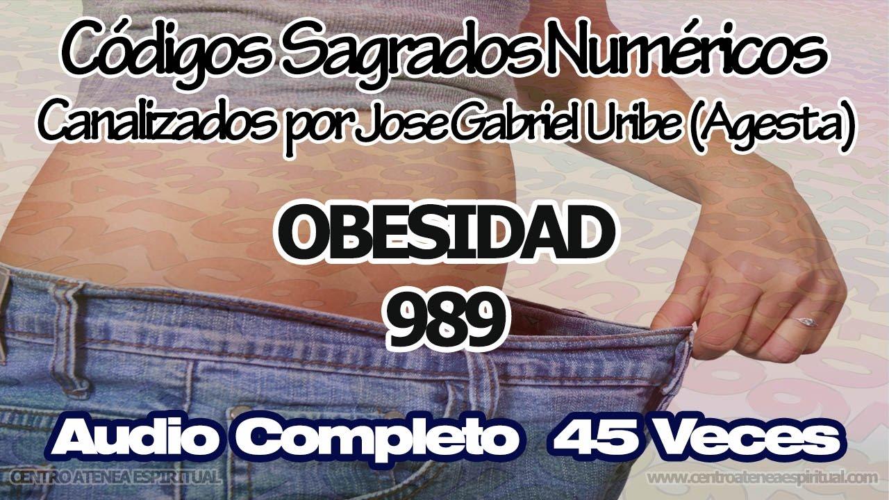 OBESIDAD CODIGOS SAGRADOS NUMERICOS 989  by CentroAteneaEspiritual