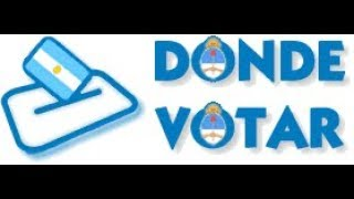 ¿Saber donde voto mañana 22 de octubre?APP (Argentina)