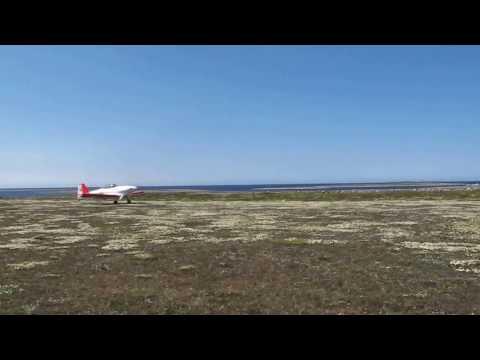 Décollage à Cape Jones du VAN's RV-4 de Michel Côté