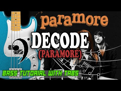 Paramore - Decode - BASS Tutorial [With Tabs] - Play Along