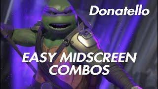 Injustice 2 | TMNT Donatello Easy Midscreen Combos