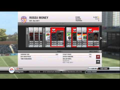 Fifa 12 Ultimate Team - Trading Pure Profits - Episode 2