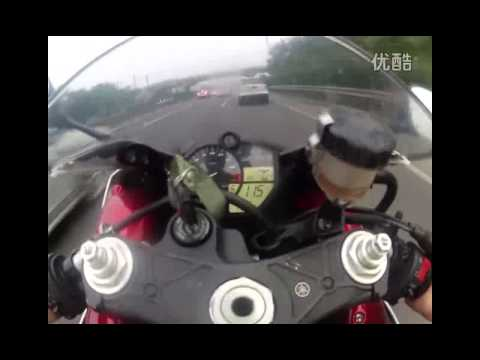 09 R1 going through the traffic in Beijing! MUST WATCH!!Beijing GHOST RIDER!