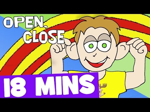 Open Close and More Action Songs for Kids   18mins Kids Songs Collection