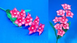 DIY Flower: How to Make Paper Stick Flower Idea|Beautiful Handcraft Flower| Jarine's Crafty Creation