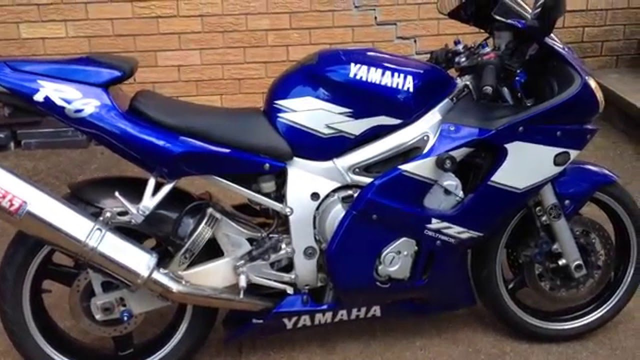 1999 Yamaha YZF R6 Start With Yoshimura Exhaust